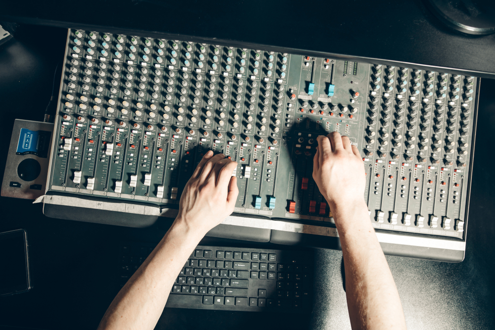 Yamaha mixing board