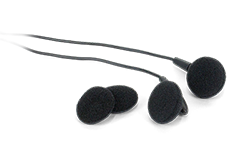 earbuds with extra foam coverings
