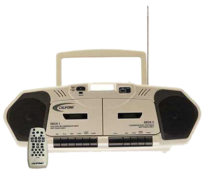 Califone boombox with remote control