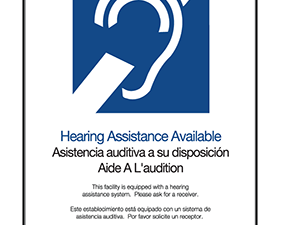 Hearing assistance available