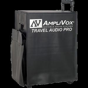 AmpliVox travel case on wheels