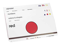 colors and shapes card program
