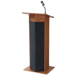 lectern and handheld mic stand