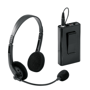 wireless headphone mic