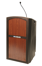 Amplivox lectern with goose neck mic