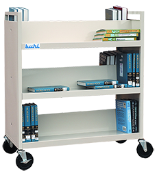 Buhl rolling book shelf
