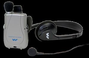 PockeTalker Pro with headphones