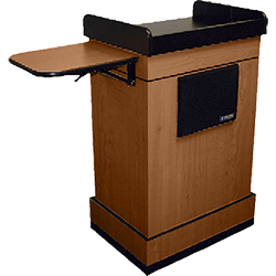 Lectern with side table
