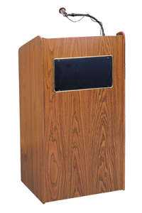 lectern with goose neck mic