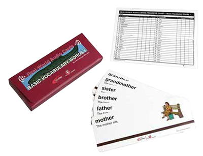 basic vocabulary words card program