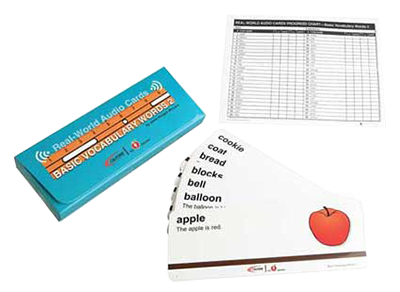 basic vocabulary words card program