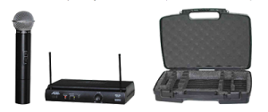 handheld mic with carry case