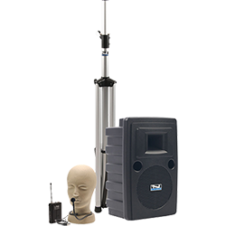 Anchor Audio PA system with speaker, stand, and hands-free mic
