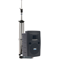 Anchor Audio PA system with speaker, stand, and handheld mic