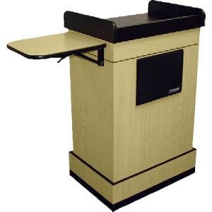 lectern with side shelf