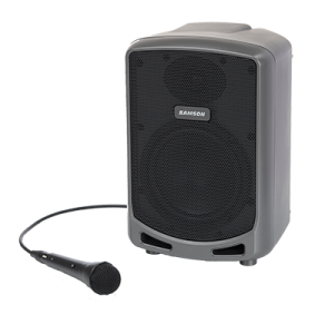 Samson wired microphone and speaker