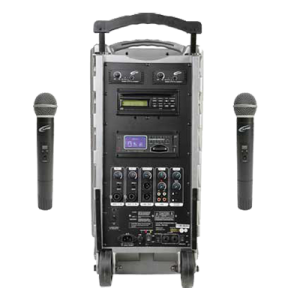 PA system with handheld microphones