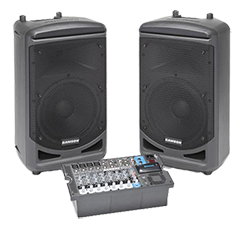 Samson PA system speakers