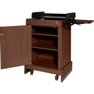 lectern with storage space