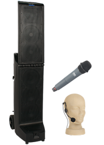 PA system with handheld & headset microphones