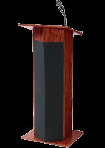 podium with microphone