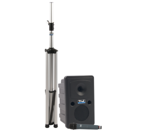 Anchor Audio PA system with speaker stand and handheld mic