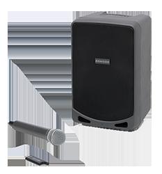 Samson speaker and handheld microphone