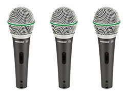 Samson handheld microphones