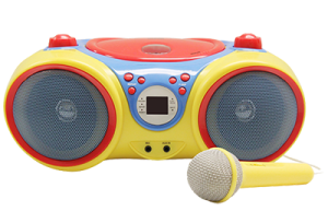 child's boombox with microphone