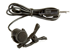 lapel microphone with clip