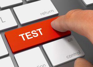 Testing button on keyboard