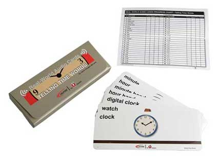 Califone MCFTT Telling Time Word Cards